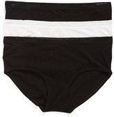 Naked Women's 3-Pack Stretch Pima Cotton Hipster Briefs