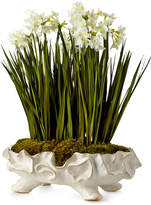 John-Richard Collection Paperwhite Garden Faux-Floral Arrangement