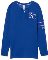 PINK Kansas City Royals Bling Lace-up Varsity Crew