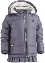 Tommy Hilfiger Hooded Ruffled-Hem Puffer Coat, Toddler Girls