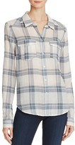 Paige Mya Plaid Shirt