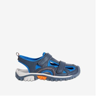 Joe Fresh Kid Boys' Quick-Close Strap Sandals, Navy (Size 5)