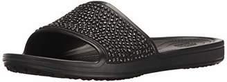 Crocs Women's Sloane Embellished Slide W Heels Sandals, Black, 41/42 EU