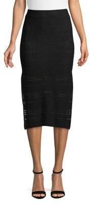 Finders Keepers Side Slit Eyelet Midi Skirt