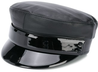 Ruslan Baginskiy Leather Baker Boy Hat