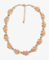 Forever 21 Sparkling Leaf Necklace