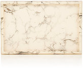 Pacific Connections Carrara Marbled Wooden Vanity Tray-CREAM, NO COLOR