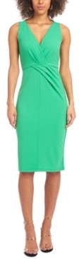 Christian Siriano New York Pleat-Detail Sheath Dress