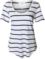 Dex Navy Striped T Shirt