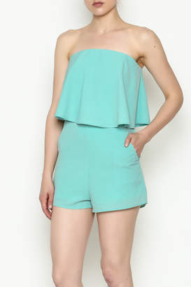 She + Sky Mint Strapless Romper
