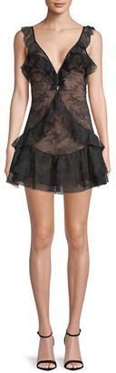 For Love & Lemons Poppy Lace Mini Dress
