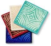 Threshold Set of 4 Patterned Coaster Set Stoneware