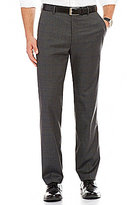Murano Alex Modern Slim-Fit Flat-Front Windowpane Pants