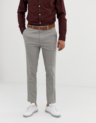 Burton Menswear skinny fit trousers in puppytooth check-Tan