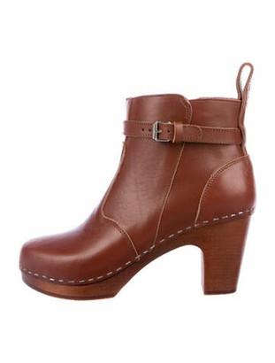 Swedish Hasbeens High Heeled Jodhpur Leather Boots w/ Tags Brown