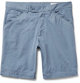 Officine Generale Garment-Dyed Cotton-Poplin Shorts