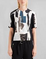 Belstaff St Cyrus Printed Shirt Off White