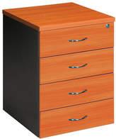 Mobile Pedestal with 4 Drawer Colour: Cherry / Iron Grey