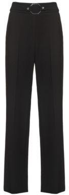 HUGO BOSS High Rise Relaxed Fit Pants With Hardware Detailed Waistline - Black