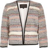 River Island Womens Red fringed jacket