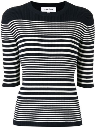 Enfold Striped Knitted Top