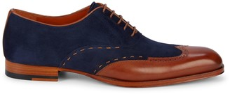 Mezlan Paganini Two-Tone Leather Oxfords