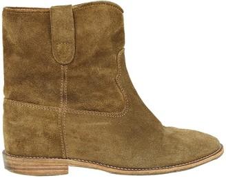 Etoile Isabel Marant \N Khaki Suede Boots