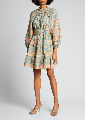 Ulla Johnson Ardith Eyelet Poplin Scalloped Dress