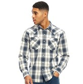 Levi's Mens Barstow Western Long Sleeve Shirt Wildcat Dress Blues