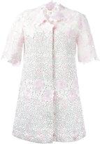 Giambattista Valli roses motif midi coat - women - Cotton/Polyamide/Polyester/Silk - 40