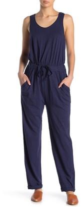 Caslon Solid Sleeveless Slub Jumpsuit (Regular & Petite)