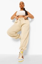 Thumbnail for your product : boohoo Plus Stripe Front Joggers