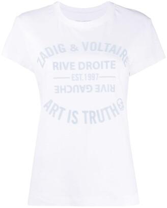 Zadig & Voltaire velvet-flocked logo T-shirt