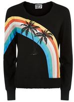 Pam & Gela Palm Rainbow Sweater