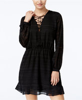 Jessica Simpson Kaylin Lace-Up A-Line Peasant Dress