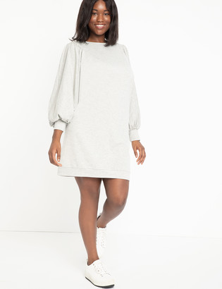 ELOQUII Dolman Sleeve Sweatshirt Dress