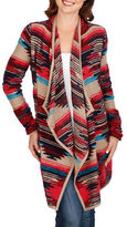 Lucky Brand Striped Open Front Cardigan