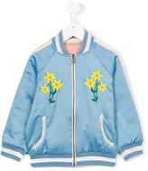 Stella McCartney embroidered bomber jacket - kids - Cotton/Polyester - 12 yrs
