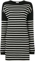 Saint Laurent mariniere striped sweatshirt dress - women - Cotton - S