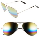 Ray-Ban Men's 58Mm Aviator Sunglasses - Metallic Drk Bronze/ Mirror