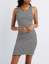 Charlotte Russe Ribbed Cut-Out Bodycon Dress