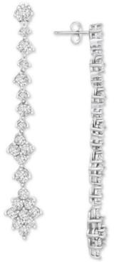 Wrapped in Love Diamond Linear Drop Earrings (2-1/2 ct. t.w.) in 14k White Gold, Created for Macy's