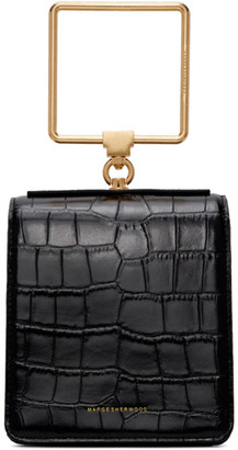 Marge Sherwood Black Croc Pump Handle Bag