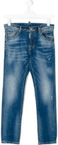 DSQUARED2 distressed stonewashed jeans - kids - Cotton/Spandex/Elastane - 14 yrs