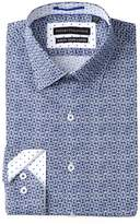 Report Collection Printed Slim Fit Stretch Dress Shirt