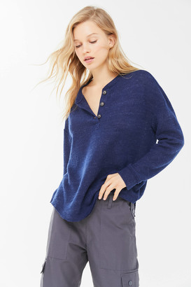 Urban Outfitters Zachary Oversized Henley Top