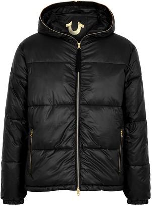 True Religion Black Logo Shell Jacket