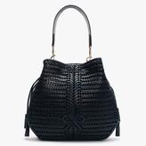 Anya Hindmarch Neeson Marine Leather Woven Hobo Bag