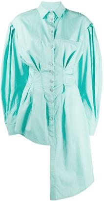 Natasha Zinko Asymmetric Lantern Sleeve Shirt