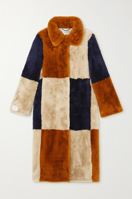 Stella McCartney Adalyn Patchwork Faux Fur Coat - Multi